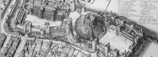 Wenceslaus Hollar's bird's eye view of Windsor Castle.